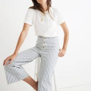 Madewell Emmett Striped Wide Leg Cropped Pants